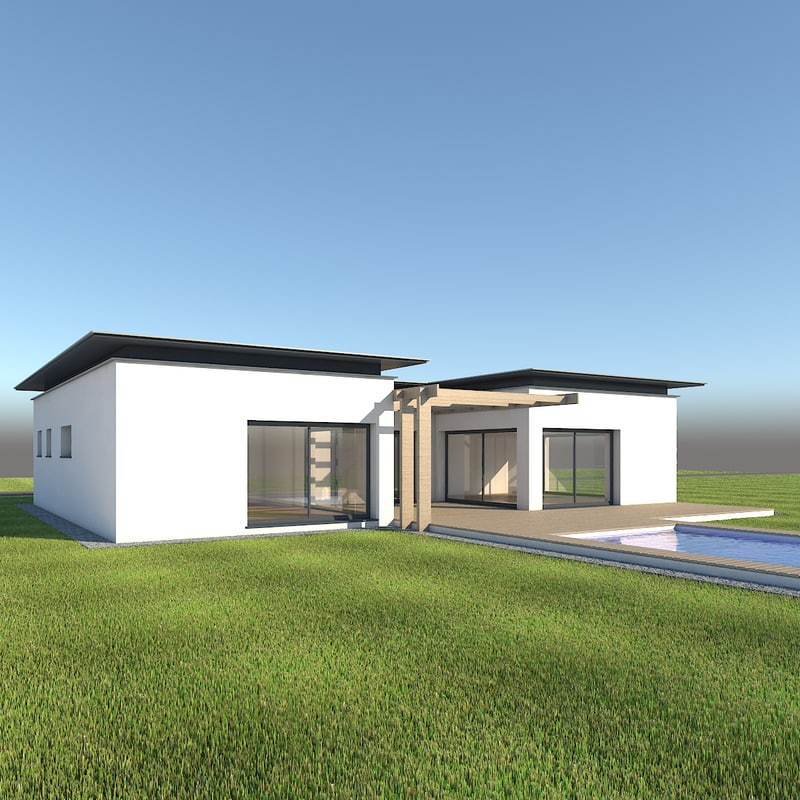 single house 3d model