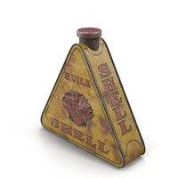 vintage cans 3d obj