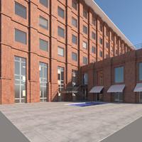 3ds redbrick facade