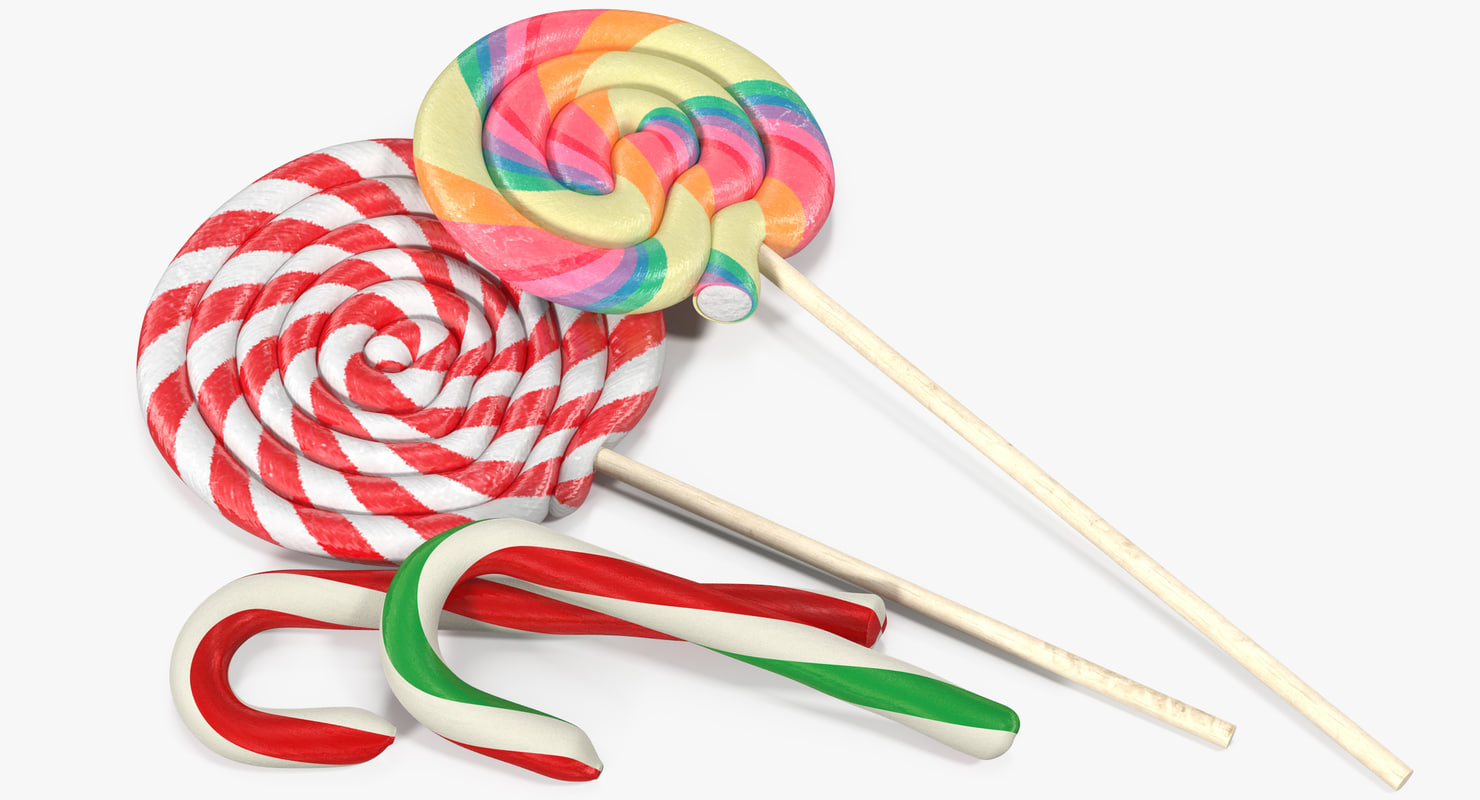 3d model candies