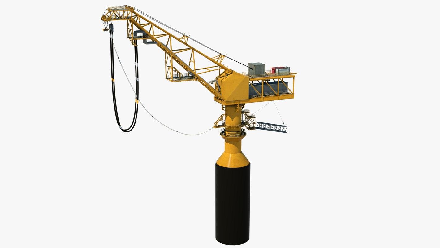 3d model sea oil terminal