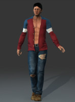 Rigged Textured Man