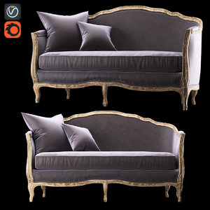 sofa ondine salon bench 3d fbx