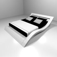 modern design bed 262x196x68 3d obj