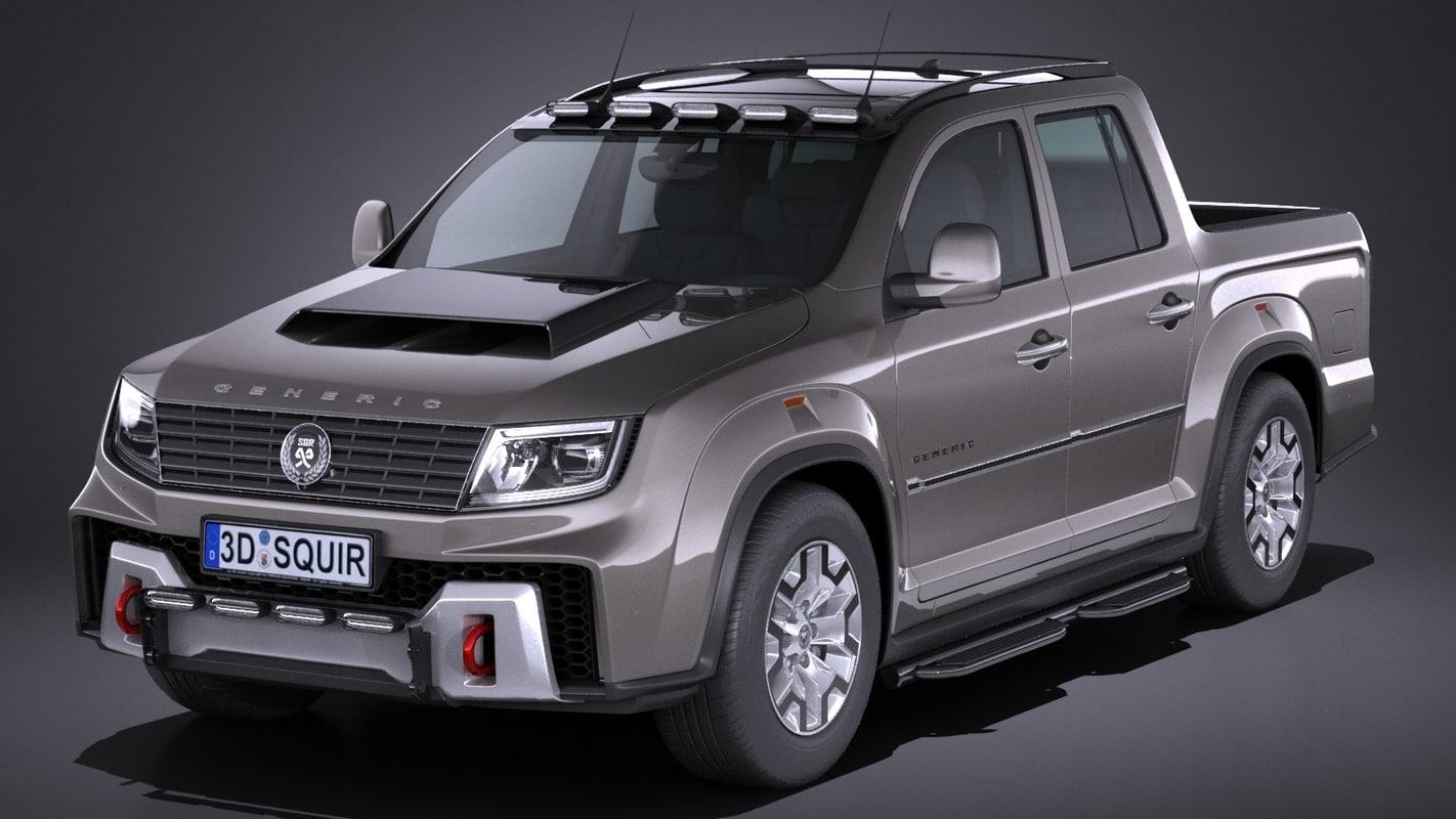 generic pickup 2017 3d model