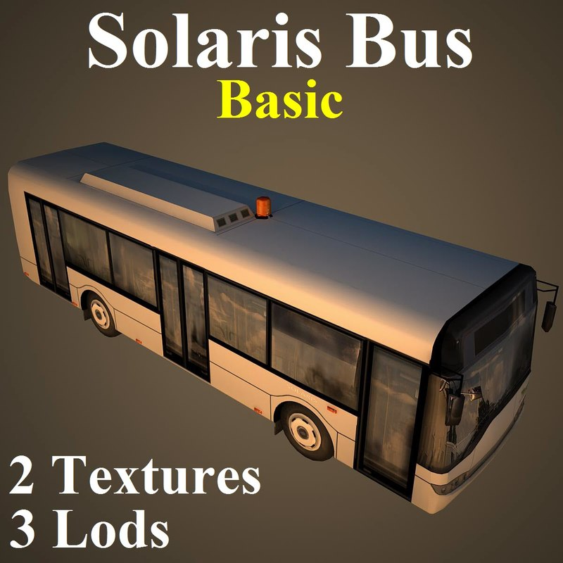 solaris bus basic 3d max