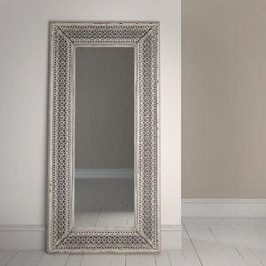 3d max antique moroccan mirror vintage