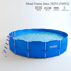 max metal frame intex swimming pool