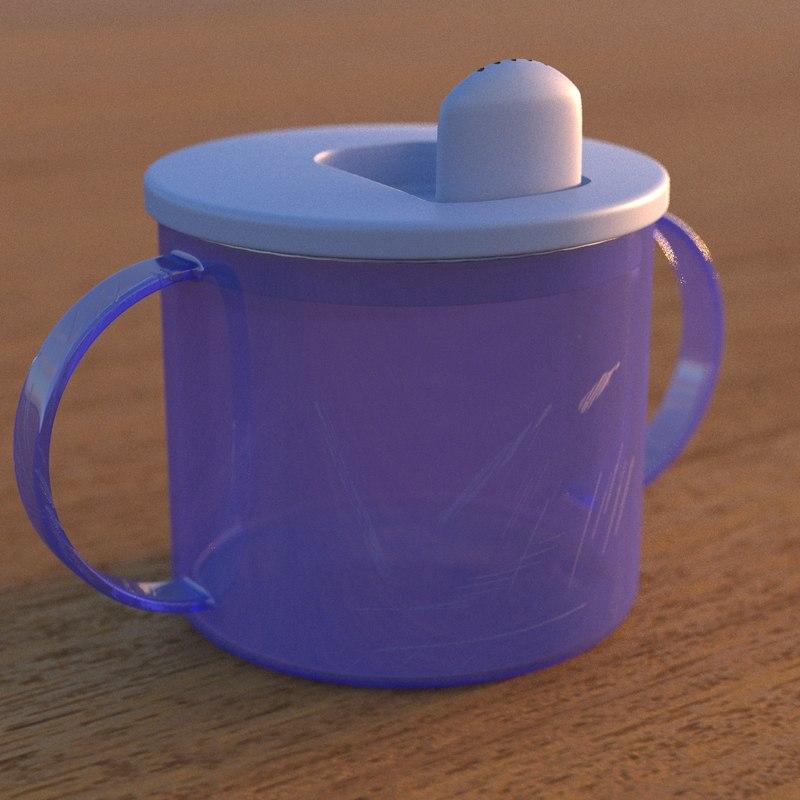 3d model toddler cup