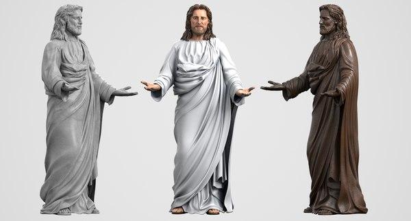3ds max jesus statue