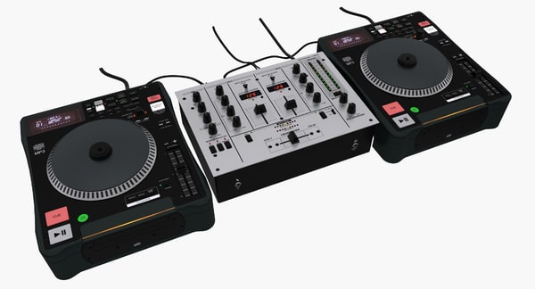 dj cd turntable mixer 3d max