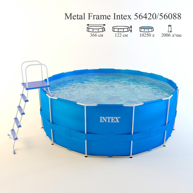 frame pool intex 56420 3d max