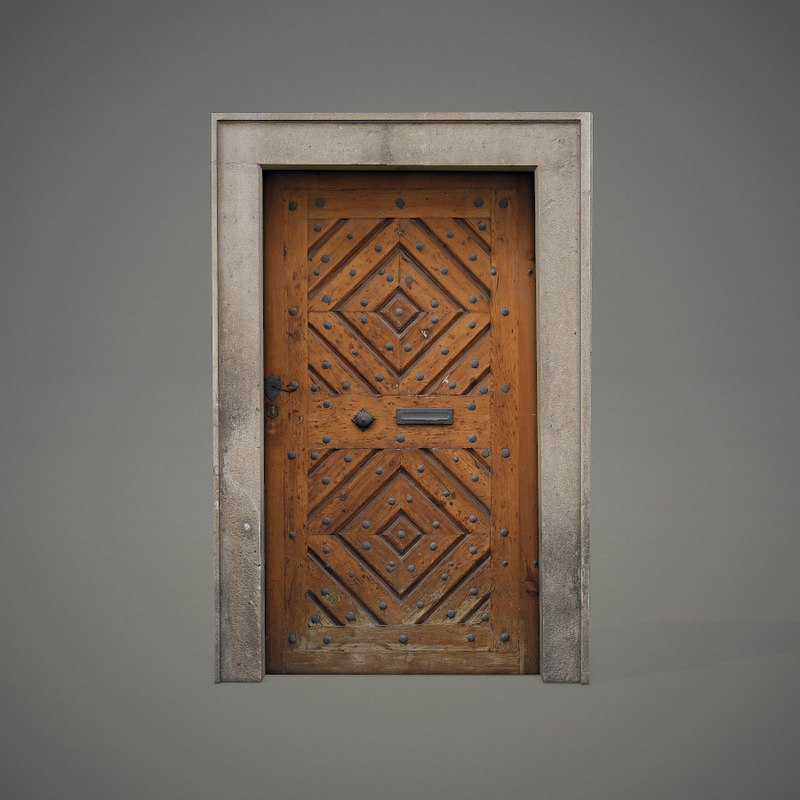 old wooden door 3d 3ds