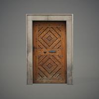 old wooden door 3d 3ds