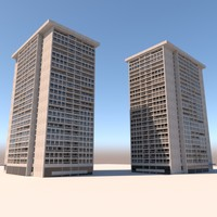 3d model of century towers