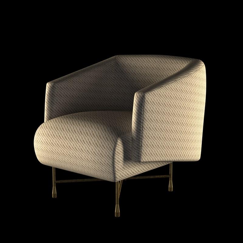 chair bijoux lounge 3d model