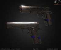 m1911 pistol obj free