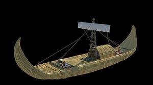 3d historic canoe