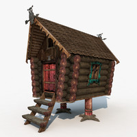 house chicken legs 3d model