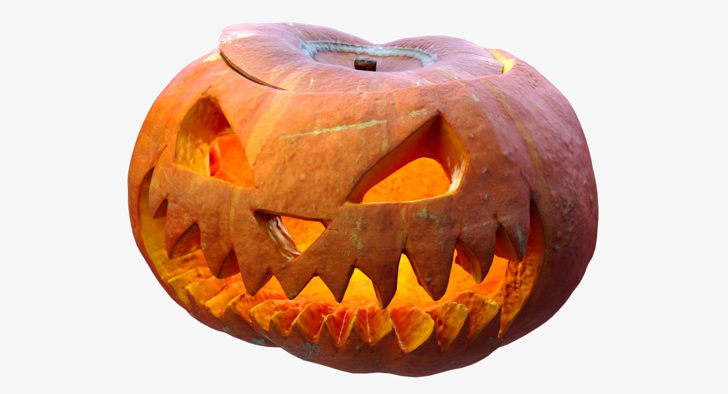 halloween jack o pumpkin 3d max