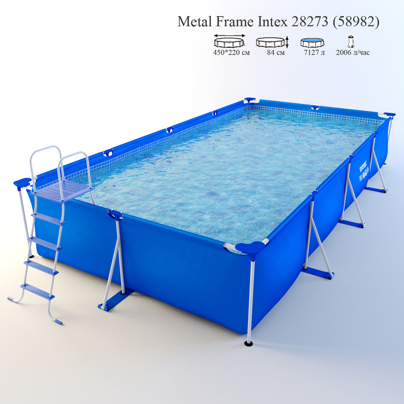 frame pool intex 28273 3d model