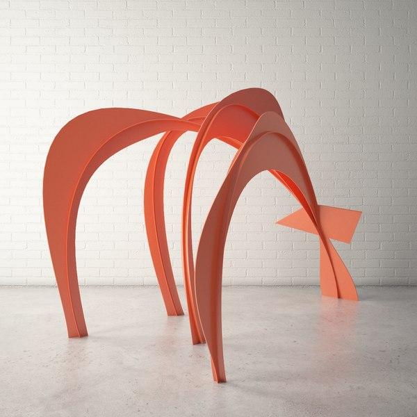 3d model custom public sculpture