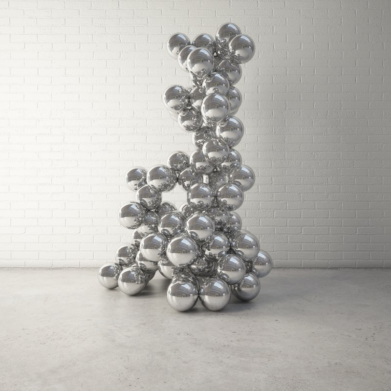 3d custom public sculpture model