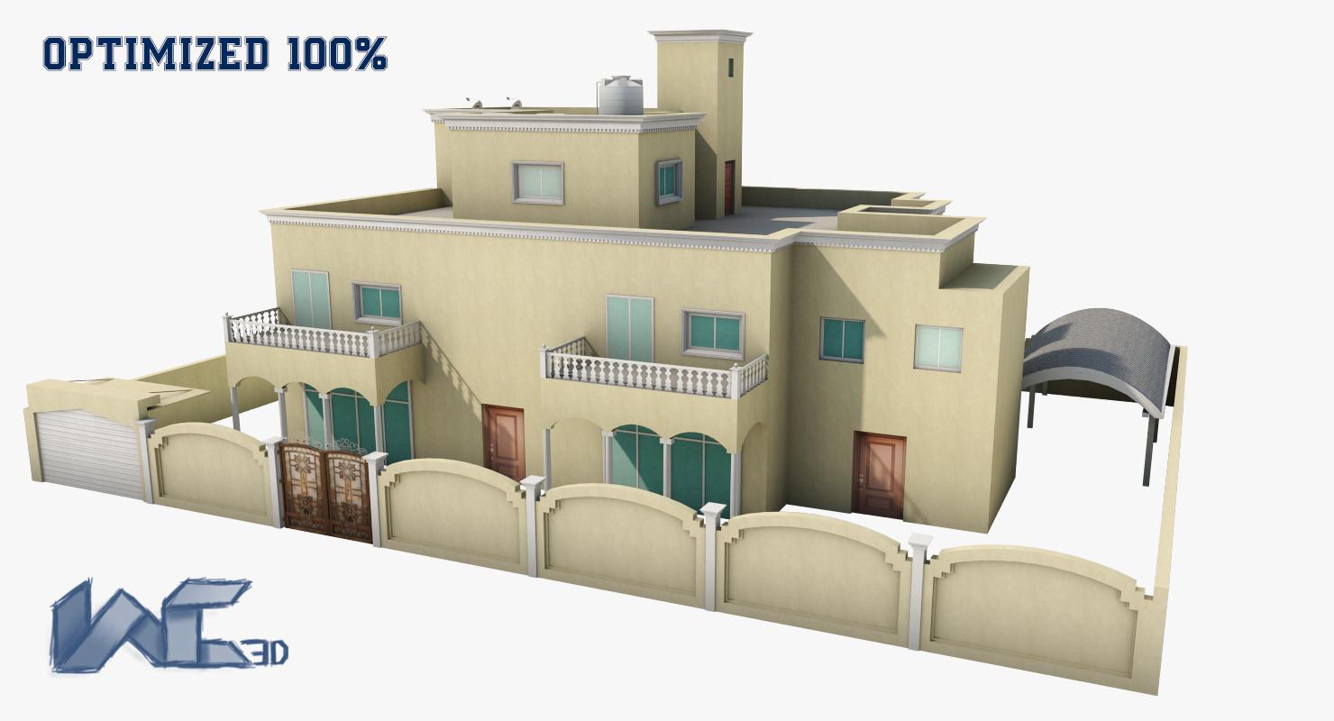optimized architectural exterior 3ds