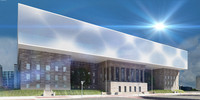 modern museum architecture 3d max