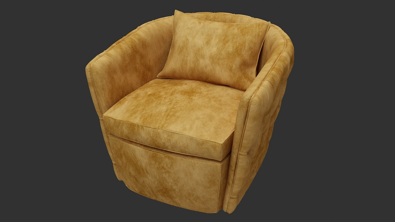 sofa single cushion 3d max