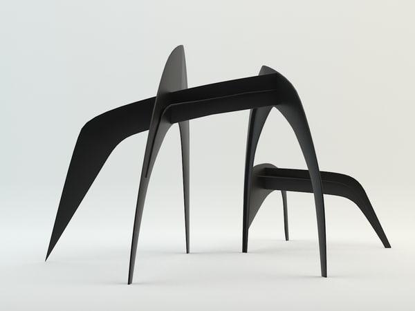 3ds alexander calder sculpture