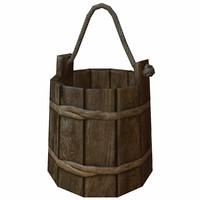 wooden bucket 3d max