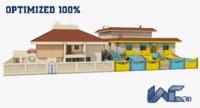optimized architectural exterior 3d max