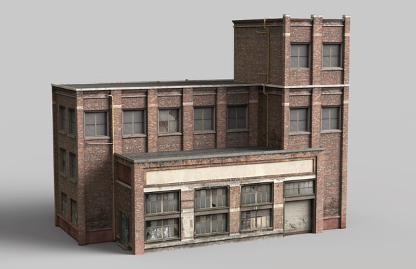 industrial brick building max