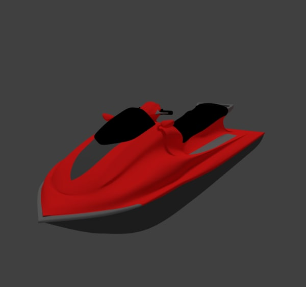 jetski - water 3d model