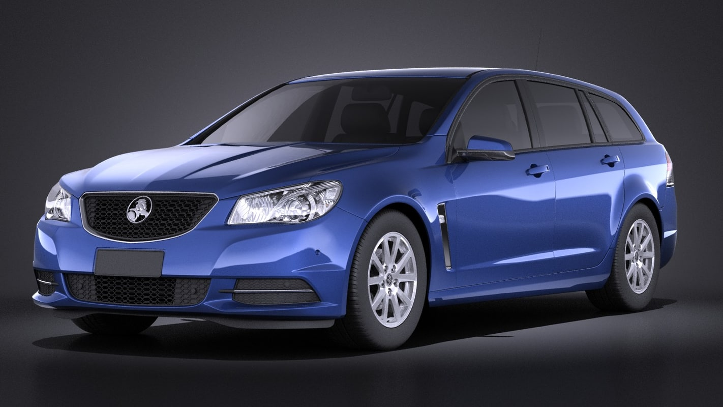 2014 wagon holden 3d model