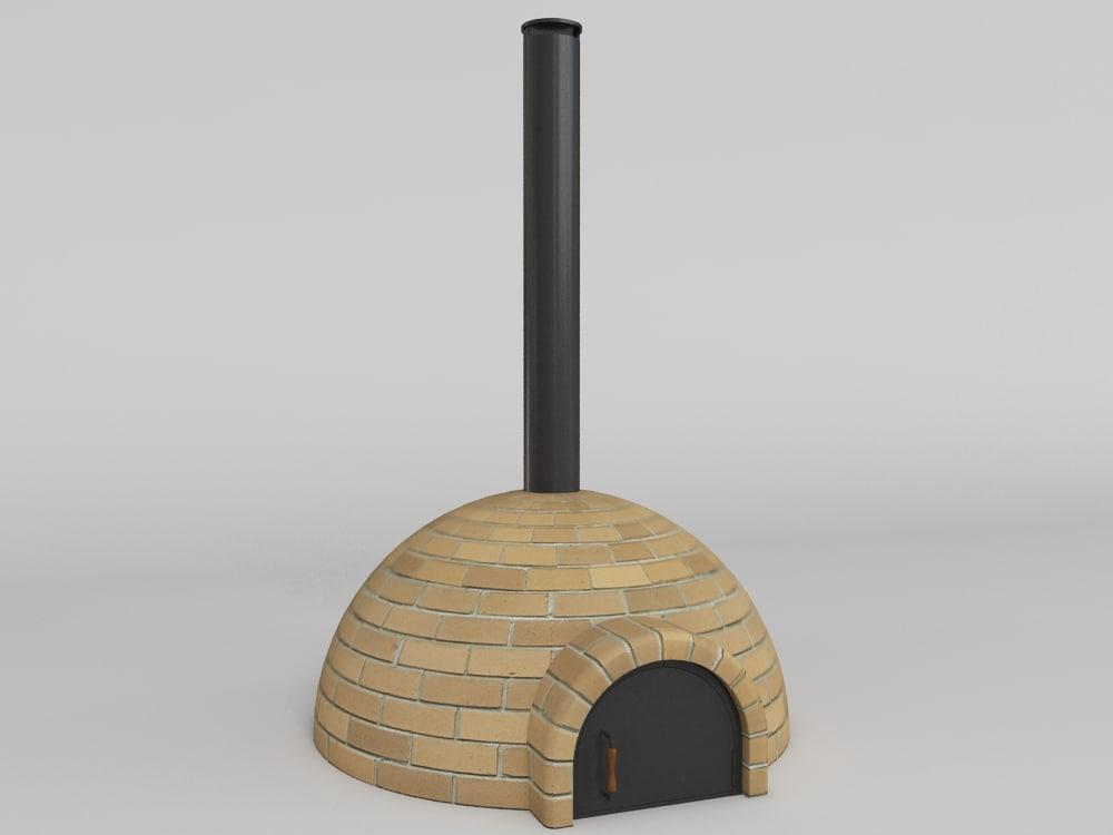 3d model pizza oven