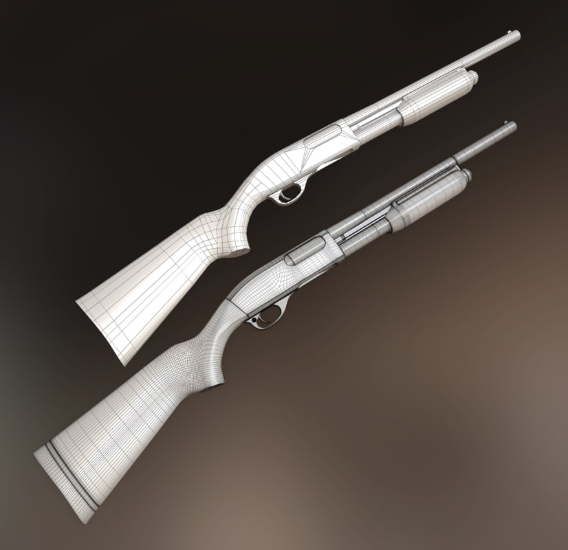 remington 870 shotgun 3d obj