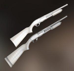 remington 870 shotgun 3d obj