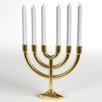 menorah branches lampstand obj