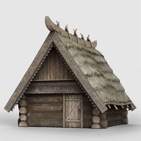 Medieval Low-Poly House 3d model pack UE4