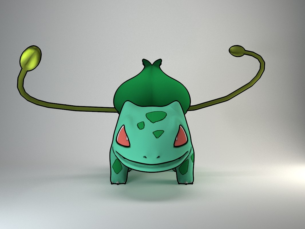 3d model bulbasaur pokemon