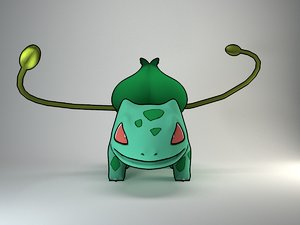 3d model bulbasaur pokemon