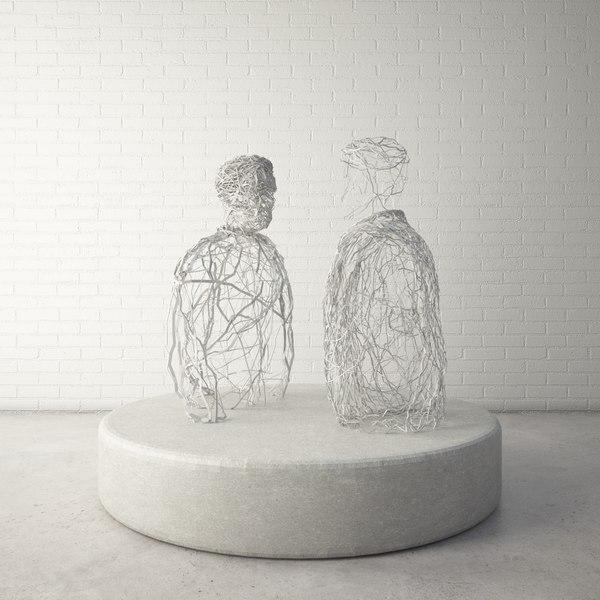 3d model custom public sculpture human