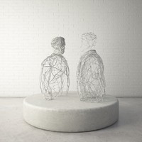 3d model custom public sculpture human
