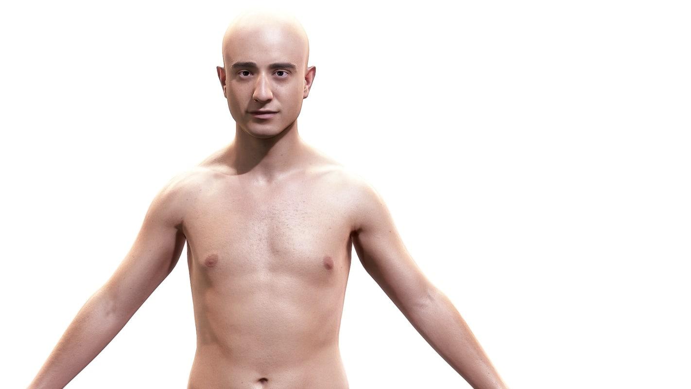 man character body anatomy fbx