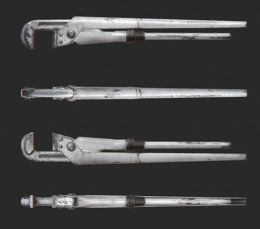 3d realistic wrench