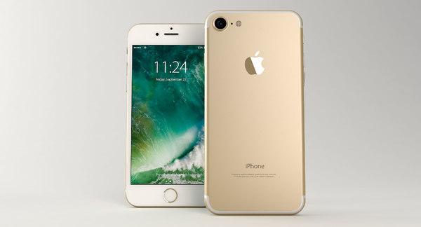 modelo 3d Apple iPhone 7 Gold - TurboSquid 1083838