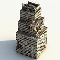3d model manhattan ruined