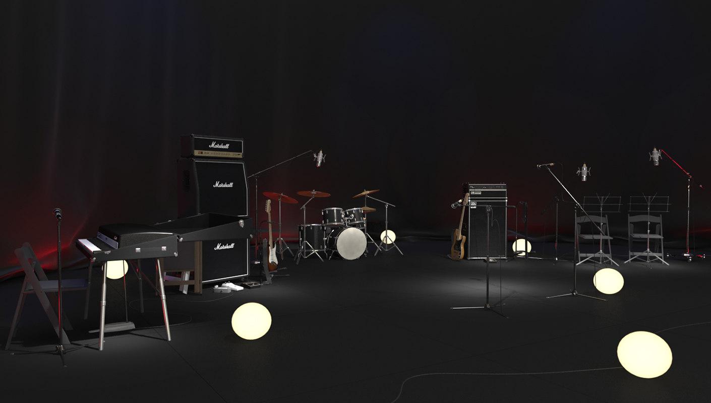 stage set 3d obj